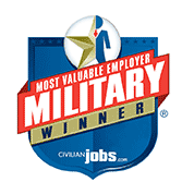 2013 and 2014 Most Valuable Employer Military Winner.