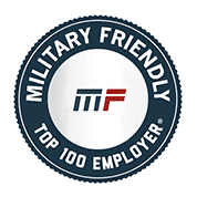 Military Friendly Top 100 Employer.